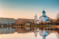 St Alexander Nevsky Church i Gomel, Homiel Vitryssland Kyrka på Royaltyfria Bilder