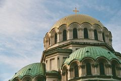 St. Alexander Nevsky - het dak Stock Fotografie