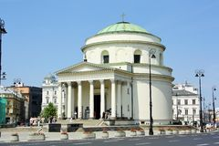St. Alexander's Church in Warsaw (Poland) Royalty Free Stock Photo