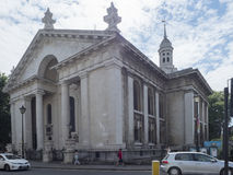 St Alfege Church, Greenwich Village London stock image