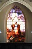 St Alkmunds Church Window, Shrewsbury. Stock Photography