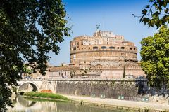 St. Andel Castle and Tiber river in Rome, Italy Stock Photo