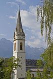 St. Andrä in Lienz. The Church of the East Tyrolean capital Lienz royalty free stock photo