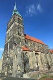 St Andreas教会在希尔德斯海姆 库存图片