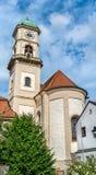 St Andreas och St Mang kyrktar i Regensburg, Tyskland Royaltyfri Foto