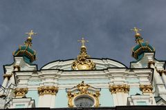 St AndrewÂ的大教堂在基辅,乌克兰 库存图片