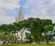 St Andrew Cathedral i Singapore royaltyfri foto