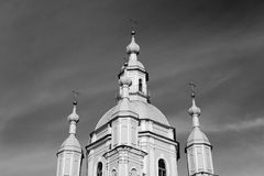 St. Andrew Cathedral in St Petersburg lizenzfreie stockbilder
