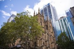 St. Andrew cathedral in Sydney Royalty Free Stock Image