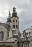 St. Andrew Church bell towers in Krakow, Poland. Stock Images