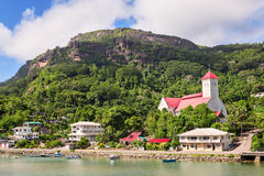 St. Andrew Church at  Cascade district, Mahe island, Seychelles Royalty Free Stock Photos