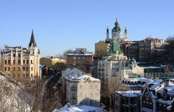 St. Andrew Church and Descent, Kiev Royalty Free Stock Photo