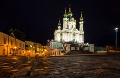 St. Andrew Church and Descent, Kiev Royalty Free Stock Images
