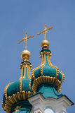 St Andrew church domes Stock Photo