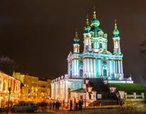 St. Andrew Church, einer von Marksteinen von Kiew, Ukraine lizenzfreies stockfoto