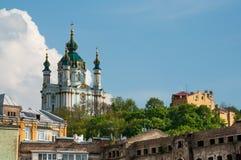 St Andrew Church em Kiev, Ucrânia Foto de Stock