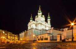 St. Andrew Church en Afdaling, Kiev royalty-vrije stock fotografie