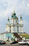 St Andrew Church i Kiev, Ukraina Arkivfoto