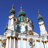 St. Andrew Church in Kiev Royalty Free Stock Images