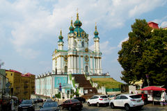 St. Andrew Church in Kiew, Ukraine Stockbild