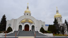 St. Andrew Church. This is a picture of the St. Andrew Ukranian Orthodox Church in Glendale Heights, Illinois. This church was built in 1987.  This picture was Royalty Free Stock Images