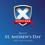 St Andrew Day Scotland flag shield banner or poster Stock Photo
