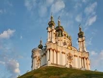 St Andrew domkyrka i Kiev Arkivbilder