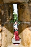 ST ANDREW, ESCÓCIA, Reino Unido, o 17 de setembro de 2016 Gaiteiro que joga os vagabundos Imagem de Stock Royalty Free