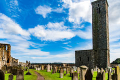 ST ANDREW, ESCÓCIA, Reino Unido, o 17 de setembro de 2016 Ruínas de St Andrew Imagens de Stock