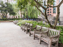 St Andrew Holborn church yard, London Stock Image