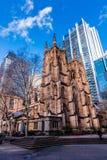 St Andrew Kathedraal van Sydney op de zonnige dag stock afbeeldingen