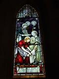 St Andrew Kathedralen-Buntglaskunst stockbild