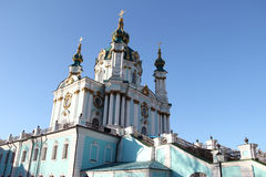 St Andrew Kerk, Kiev Stock Foto's