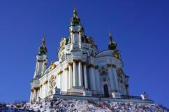 St Andrew Kirche, Kiew stockfotografie