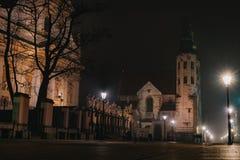 St Andrew Kirche, KrakÃ-³ w lizenzfreies stockbild