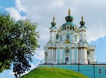 St Andrew kościół, Kijów, Ortodoksalny kościół fotografia stock