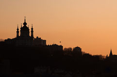 St. Andrew Orthodox Church in Kiev Stock Photo
