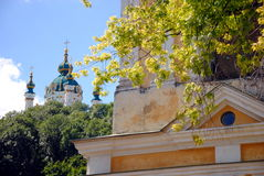 St. Andrew orthodox church from Podil Royalty Free Stock Images