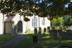 St. Andrew parish church in Great Linford, Buckinghamshire Royalty Free Stock Photo