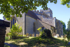 St. Andrew parish church in Great Linford, Buckinghamshire Royalty Free Stock Photography