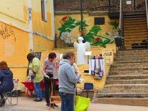 St- Andrew` s Abfall, Kyiv ukraine Lizenzfreies Stockfoto