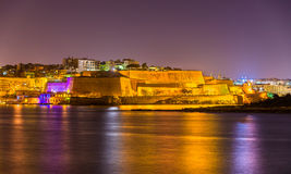 St. Andrew's Bastion in Valletta Stock Images