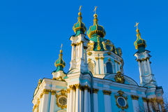 St. Andrew's Cathedral. In Kiev tha capital of Ukraine stock photography