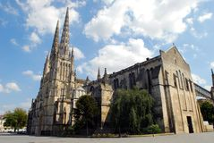 St. Andrew`s Cathedral in Bordeaux, France royalty free stock image