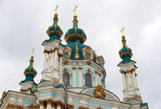 St. Andrew's Cathedral in Kiev Stock Photos