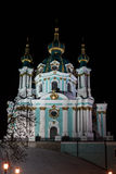 St. Andrew`s Cathedral at night Stock Photos