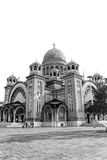 St. Andrew's Cathedral in Patra, Black and white Stock Photography