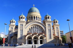 St. Andrew's Cathedral in Patra. Peloponnes, Greece royalty free stock photography