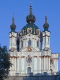 St. Andrew's Cathedral in the restoration process Royalty Free Stock Photography