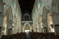 St Andrew`s Cathedral, Singapore Stock Images